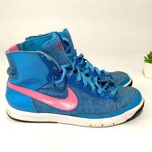 Nike ID women shoes size 8 blue pink